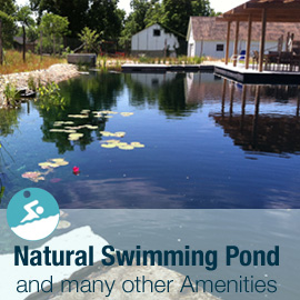 Tryon Farm Natural Swimming Pond and Amenities